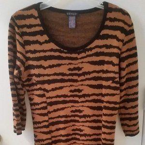 Geometric (Animal Print) Sweater Dress